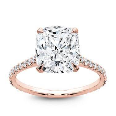 Dalia's taste is on point; get the look: French Cut Basket Setting Diamonds 3/4 down at Adiamor