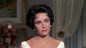 Close up portrait of Elizabeth Taylor starring in Cat on a Hot Tin Roof.