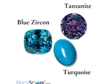 December Birthstones: Blue Zircon, Tanzanite and Turquoise feature image.
