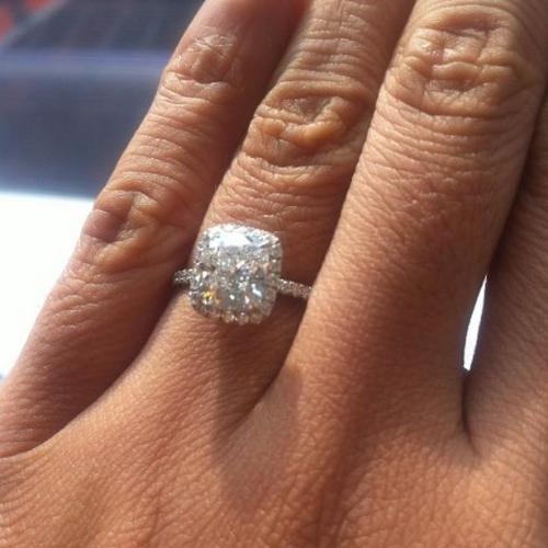 Harry Winston Halo Engagement Ring