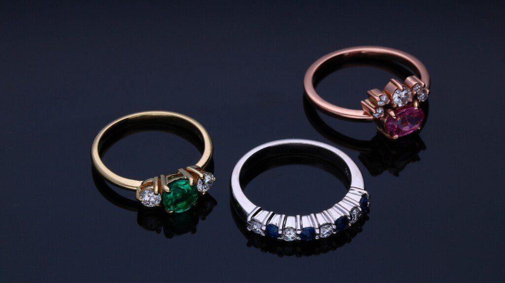 Three fine jewelry rings Unsplash by Edgar Soto