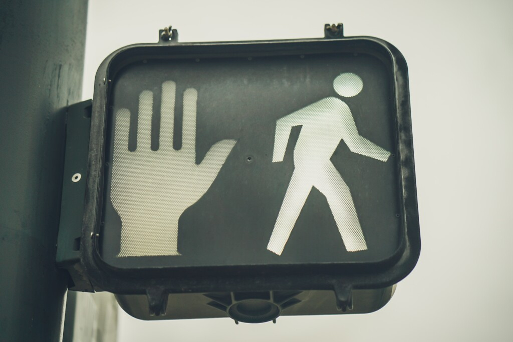 Stop and Go Walk Traffic light sign