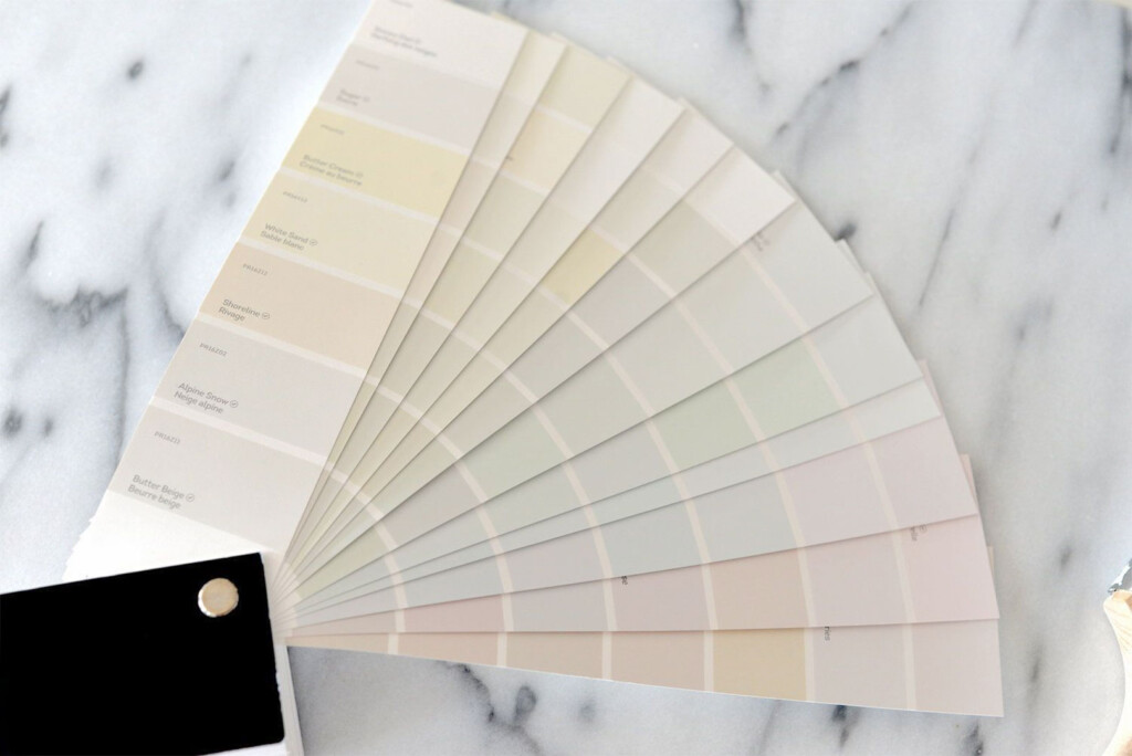 Paint color examples on fan deck