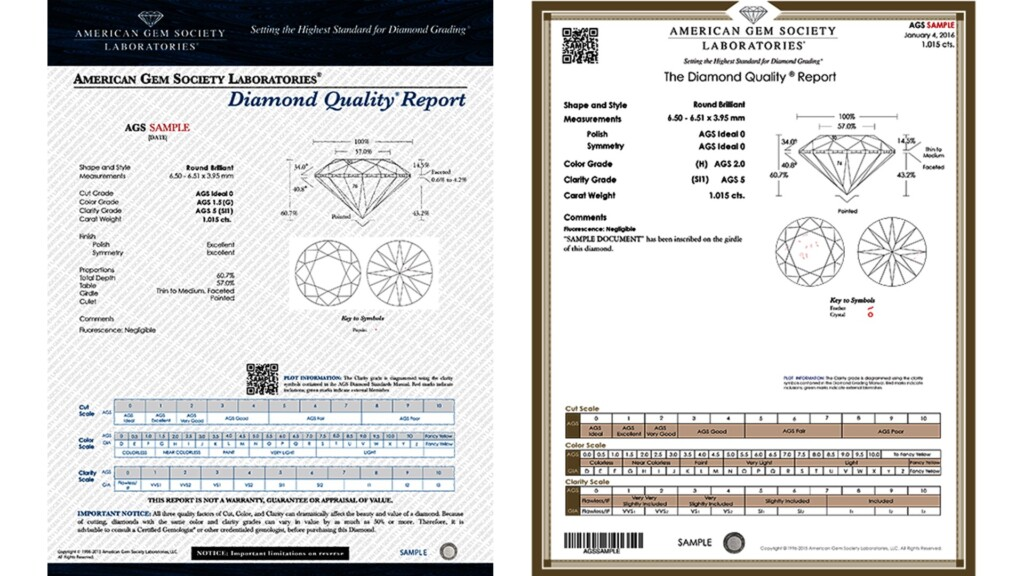 diamond certification - AGS Diamond Quality Report