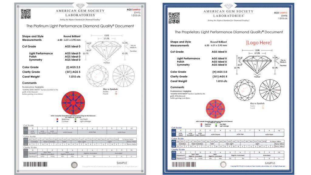 diamond certification - AGS Platinum Reports