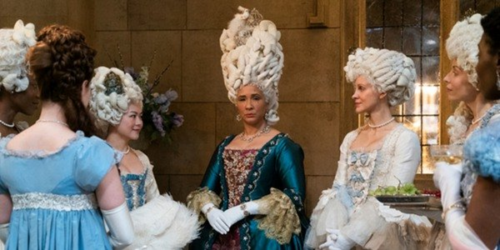 Queen Charlotte and members of her court (via Cinemablend)