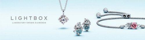 Lightbox Blue Nile pink blue lab diamond promo