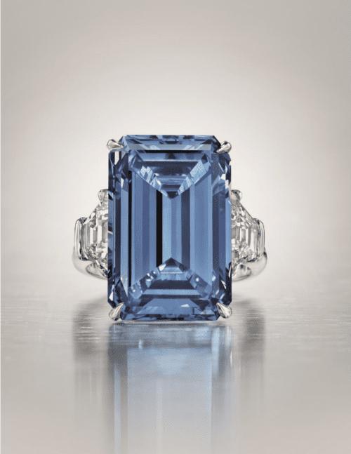 Rare blue diamond sells for record $57 5 million