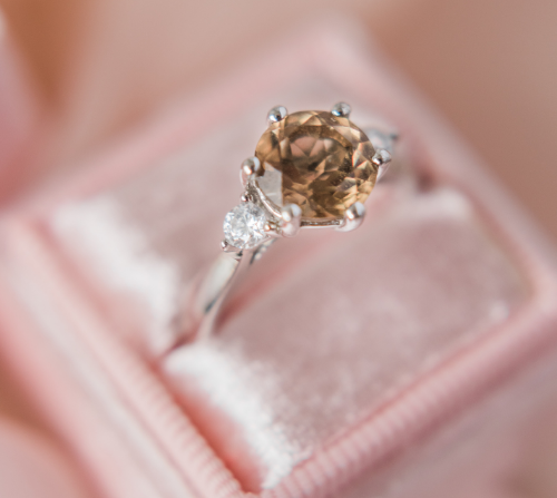 A 3-Stone Engagement Ring.