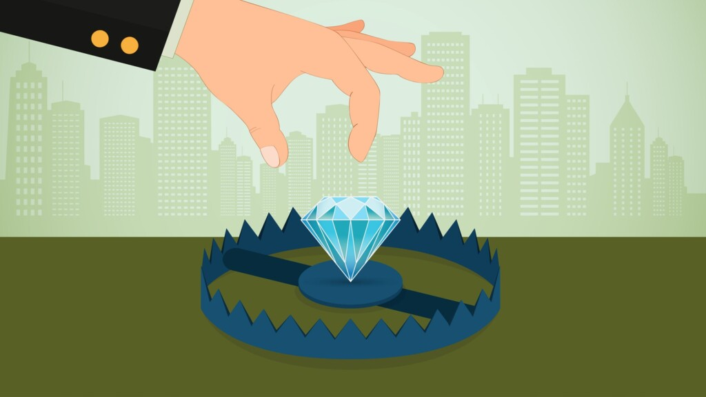 diamond 4Cs - Diamond in bear trap