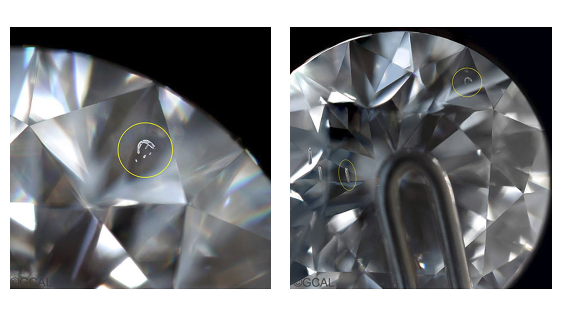 lab grown diamonds - metallic flux inclusions