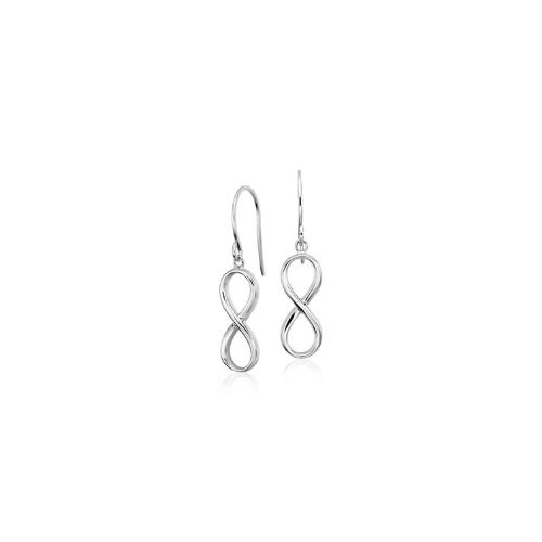 Infinity Drop Earrings in Sterling Silver.