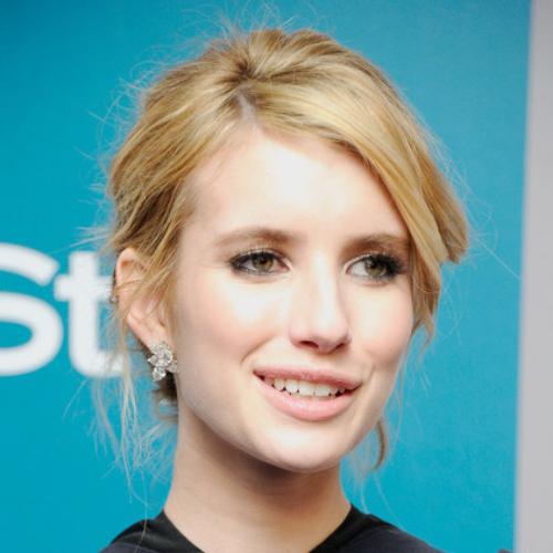 Emma Roberts cluster earrings.
