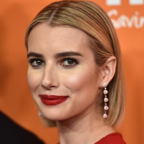 Emma Roberts wearing Drop Earrings.
