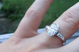 1.7ct Oval in heirloom setting