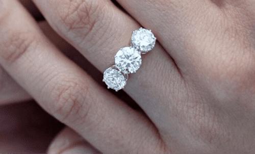 Edwardian 3 stone diamond engagement ring