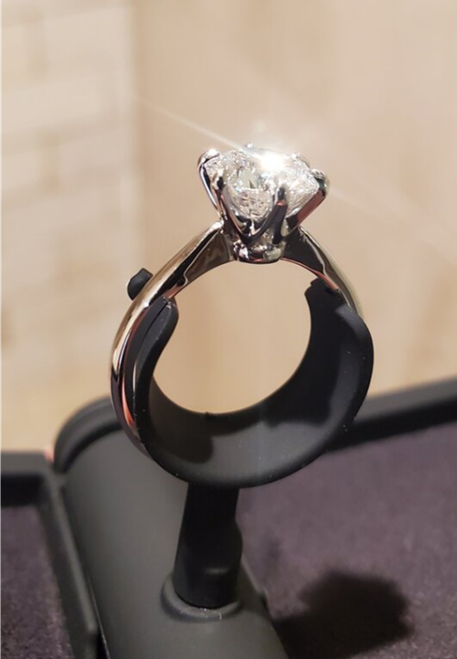 Whiteflash 1.60 ACA solitaire engagement ring
