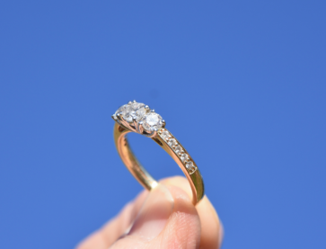 Diamond Engagement Ring. Image Source: Michelle McEwen on Unsplash.
