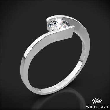 A Platinum Lilly Solitaire Engagement Ring.