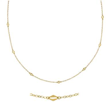 Necklace Crafted in 14K Yellow Gold.