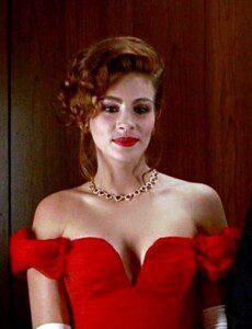 Julia Roberts in a scene of Pretty Woman.