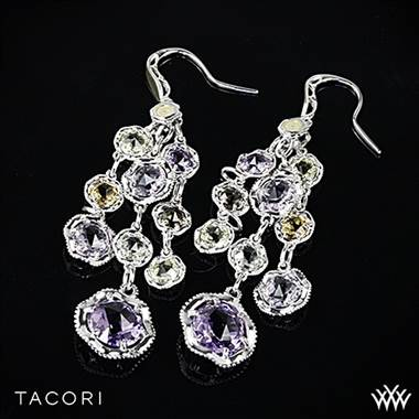 Amethyst Medley Chandelier Earrings in Sterling Silver with 18K Yellow Gold Accents.