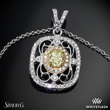 18k White Gold Simon G. TP201 Duchess Diamond Pendant at Whiteflash