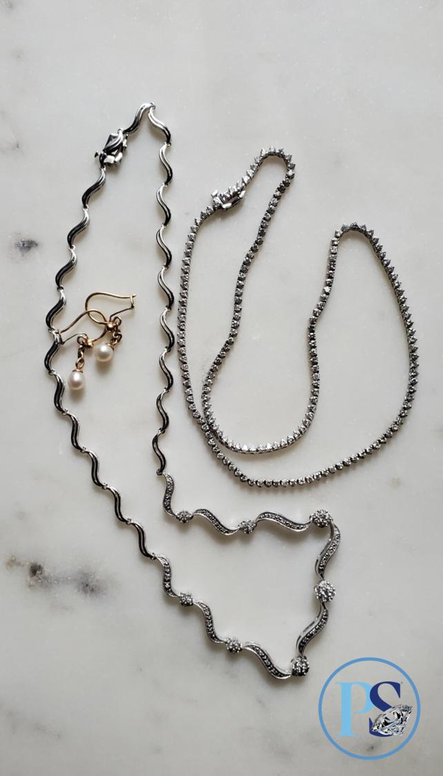 PS Blog 30s G Cheng sterling diamond 14k gold diamonds pearl earrings