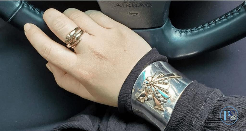 PS Blog 30s G Cheng sterling 14k gold bracelet
