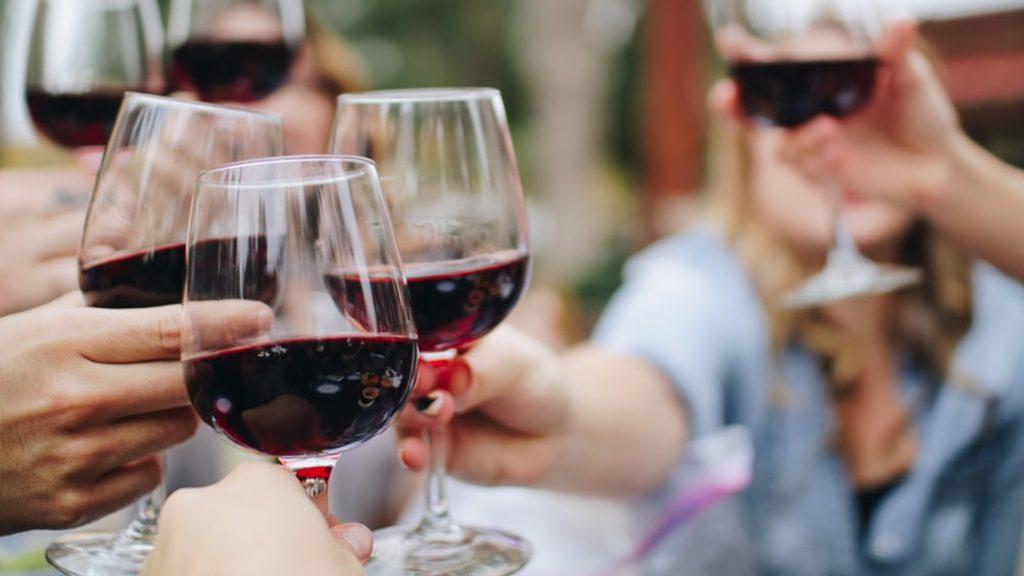 diamonds and eyesight - tasting wine