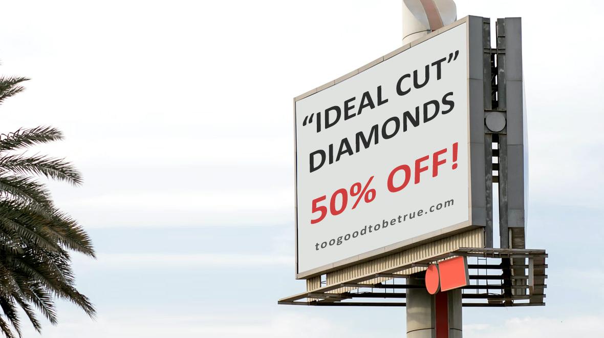 ideal cut diamond - billboard