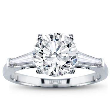 Tapered Baguette Three Stone Setting