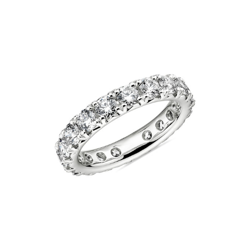 Blue Nile diamond eternity ring.