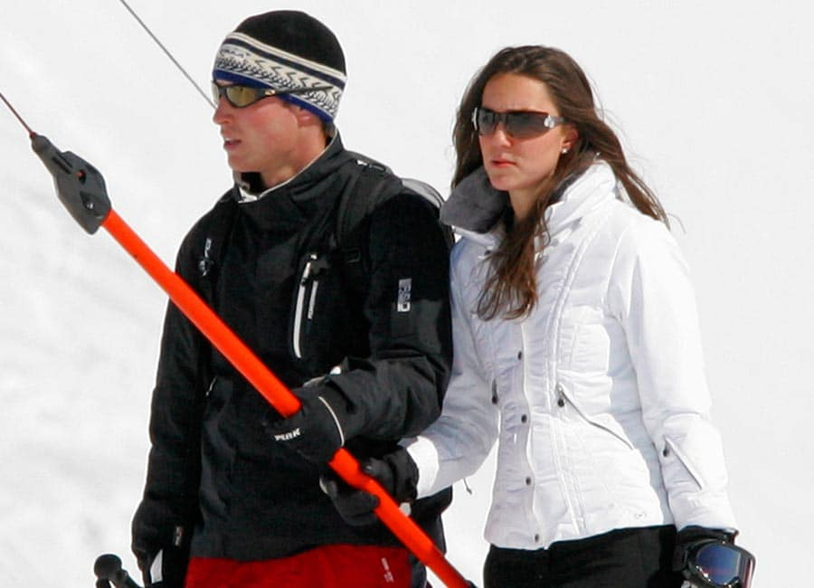 Prince William, Duke of Cambridge and Catherine, Duchess of Cambridge on a ski trip. Image Source: Getty Images.