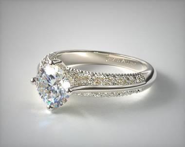 Filigree Cathedral Kite-Set Engagement Ring in 18K White Gold at James Allen.