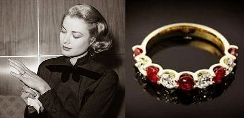 Grace Kelly's first engagement ring.