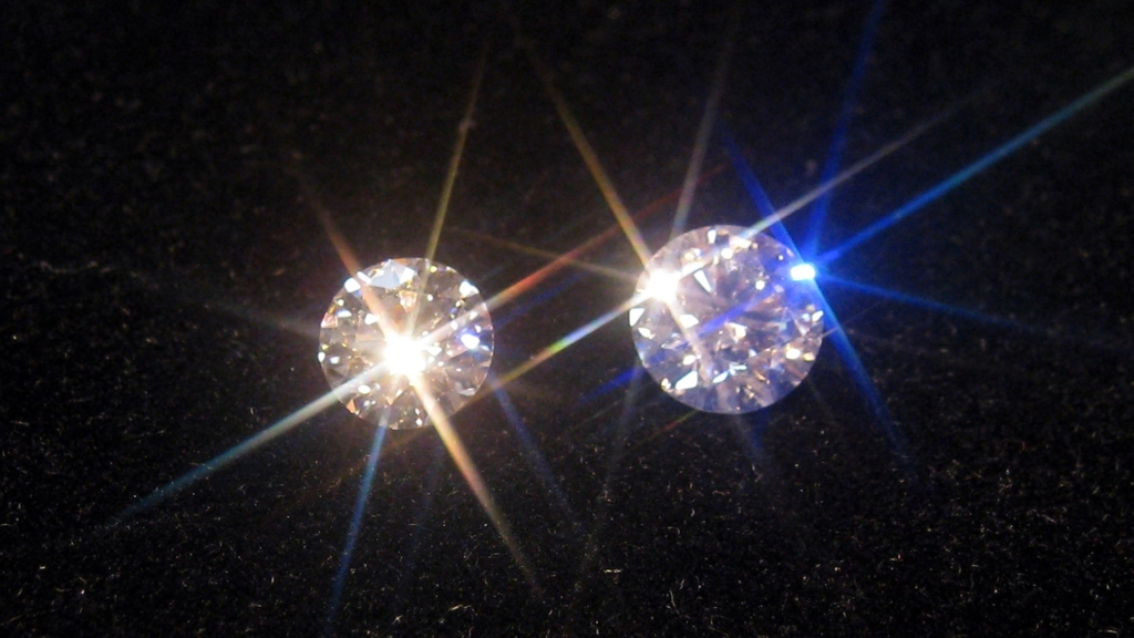 diamonds under spotlights
