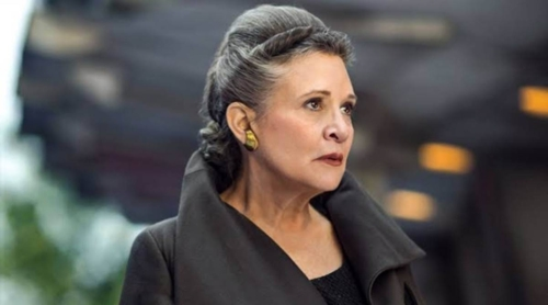 General Leia head and shoulders turned to right, displaying earrings