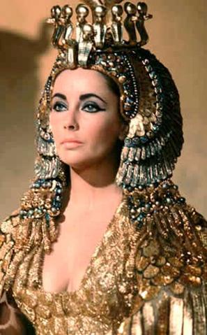 Elizabeth Taylor as Pharaoh Cleopatra.