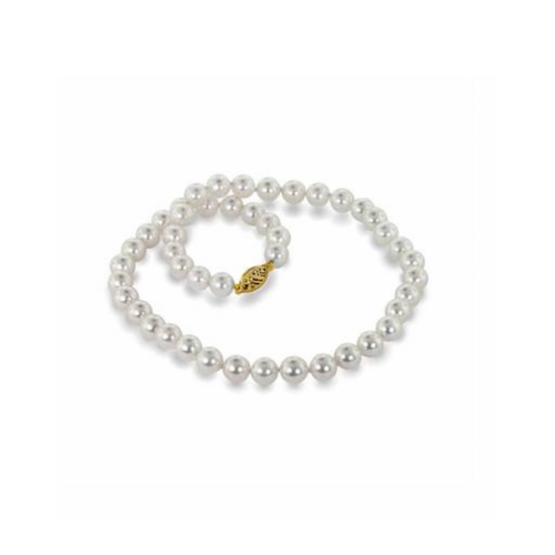 14K Yellow Gold Freshwater Cultured Pearl Strand.