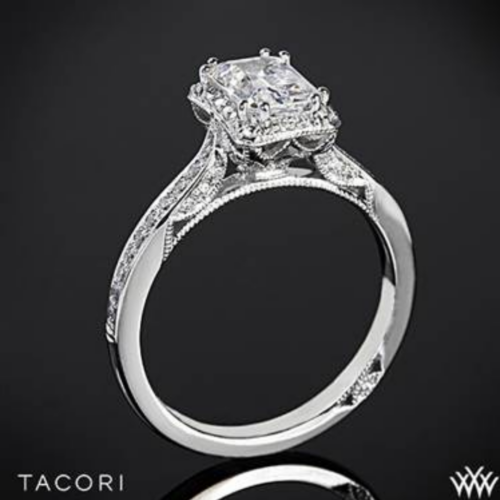 Dantela Crown for Emerald Diamond Engagement Ring.