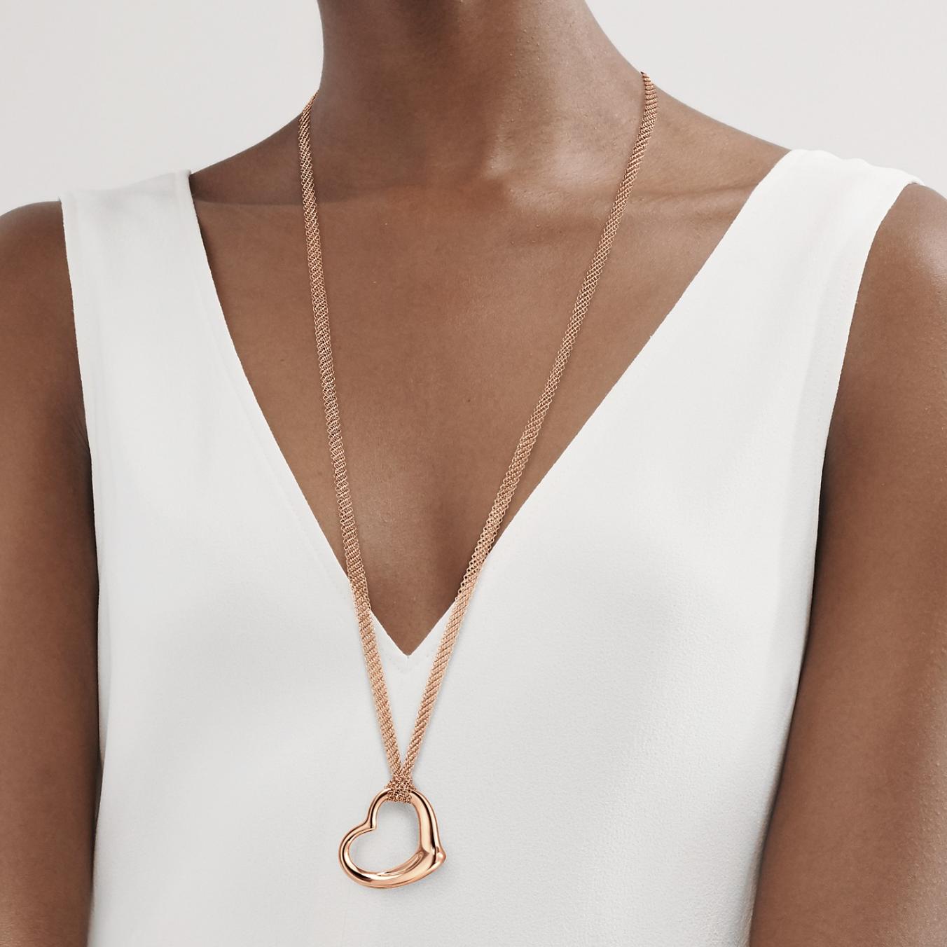 Elsa Peretti's Open Heart Mesh Pendant.