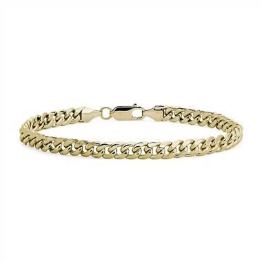Men's Miami Cuban Link Bracelet in 14k Yellow Gold.