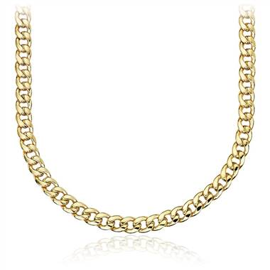Men's Miami Cuban Link Chain in 14k Yellow Gold.