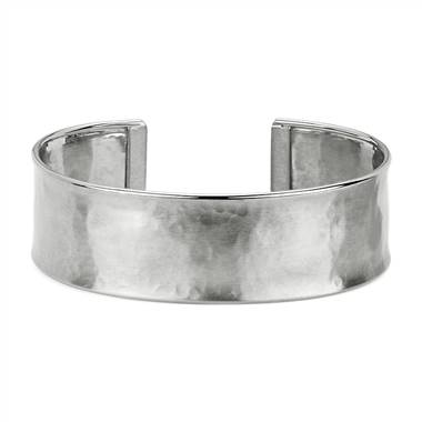 Satin Finish Cuff Bracelet in 14k White Gold