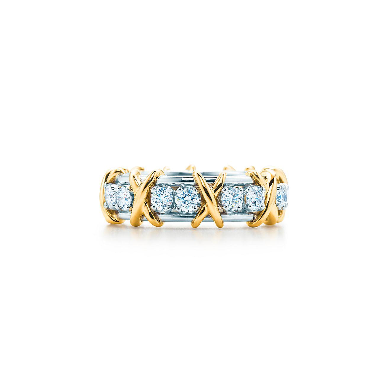 Sixteen stone diamond ring.