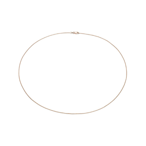 Cable Chain in 14k Rose Gold.
