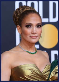 Jennifer Lopez at the 2020 Golden Globes.