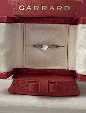diamond solitaire in a ring box from the House of Garrard