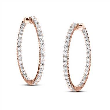 Bella Inside Out Lab Diamond Hoop Earrings from Friendly Diamonds